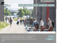 Tablet Preview of alanus-hochschule.de